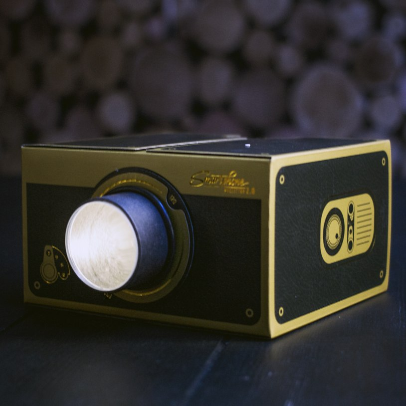 The projector can be purchased in either a black and gold or copper finish.