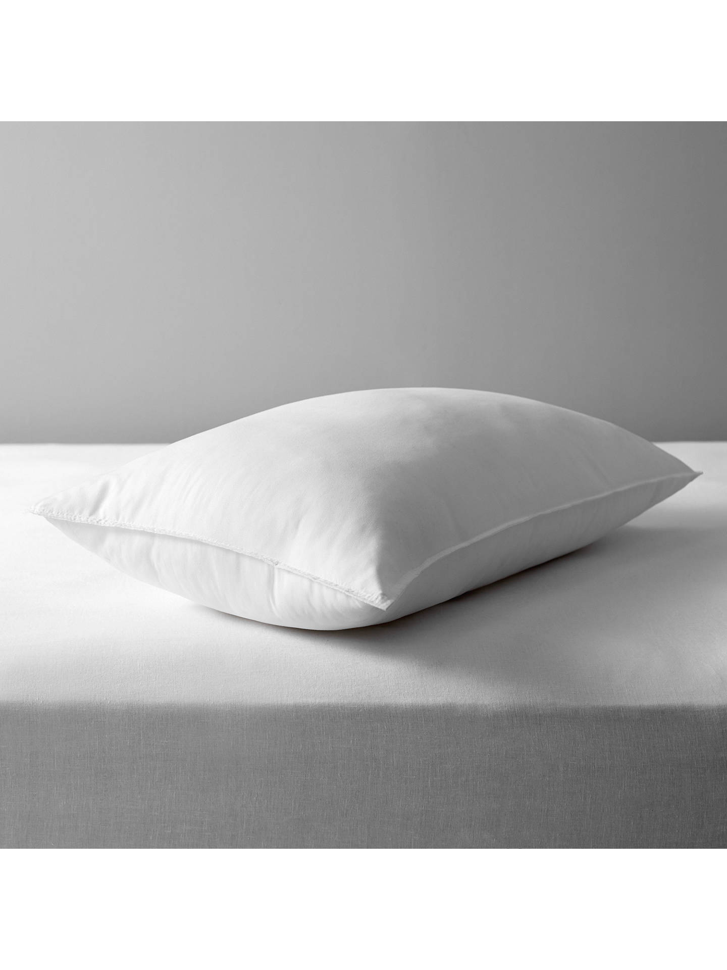 John Lewis & Partners Synthetic Soft Touch Washable Standard Pillow, Medium/Firm | £10