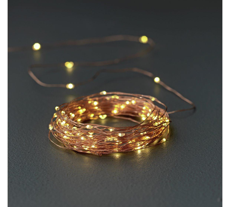 Argos Home Set of 100 LED Copper String Lights - Warm White | £8