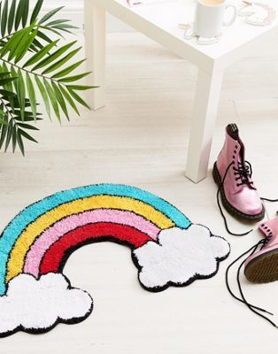 Sass & Belle Patches & Pins Rainbow with Cloud Rug | 13.00