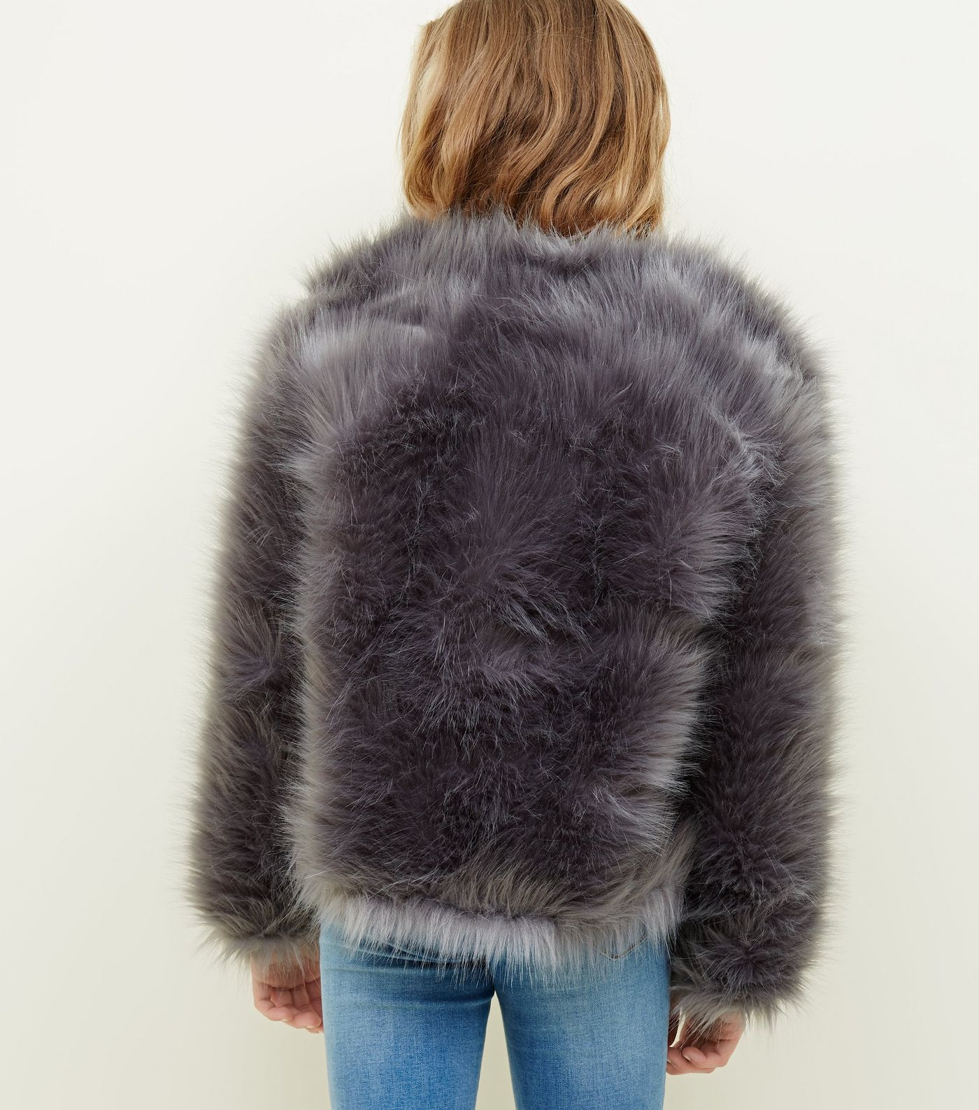 I'm about to shut down a city near you soon in the  Grey Faux Fur jacket  from New Look.