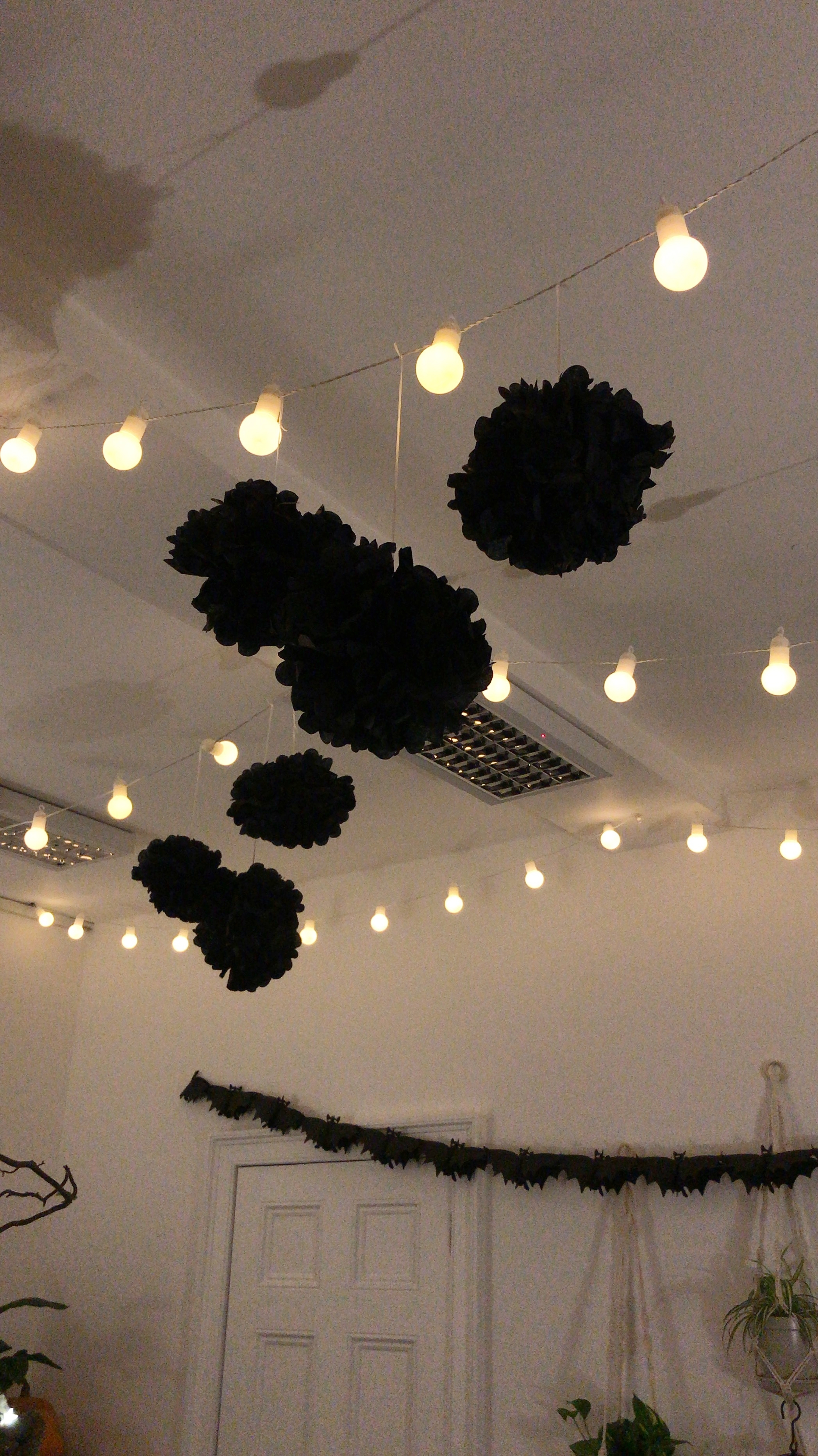 Loved all the hanging decorations in the LCC space. Especially loved those bulb string lights.