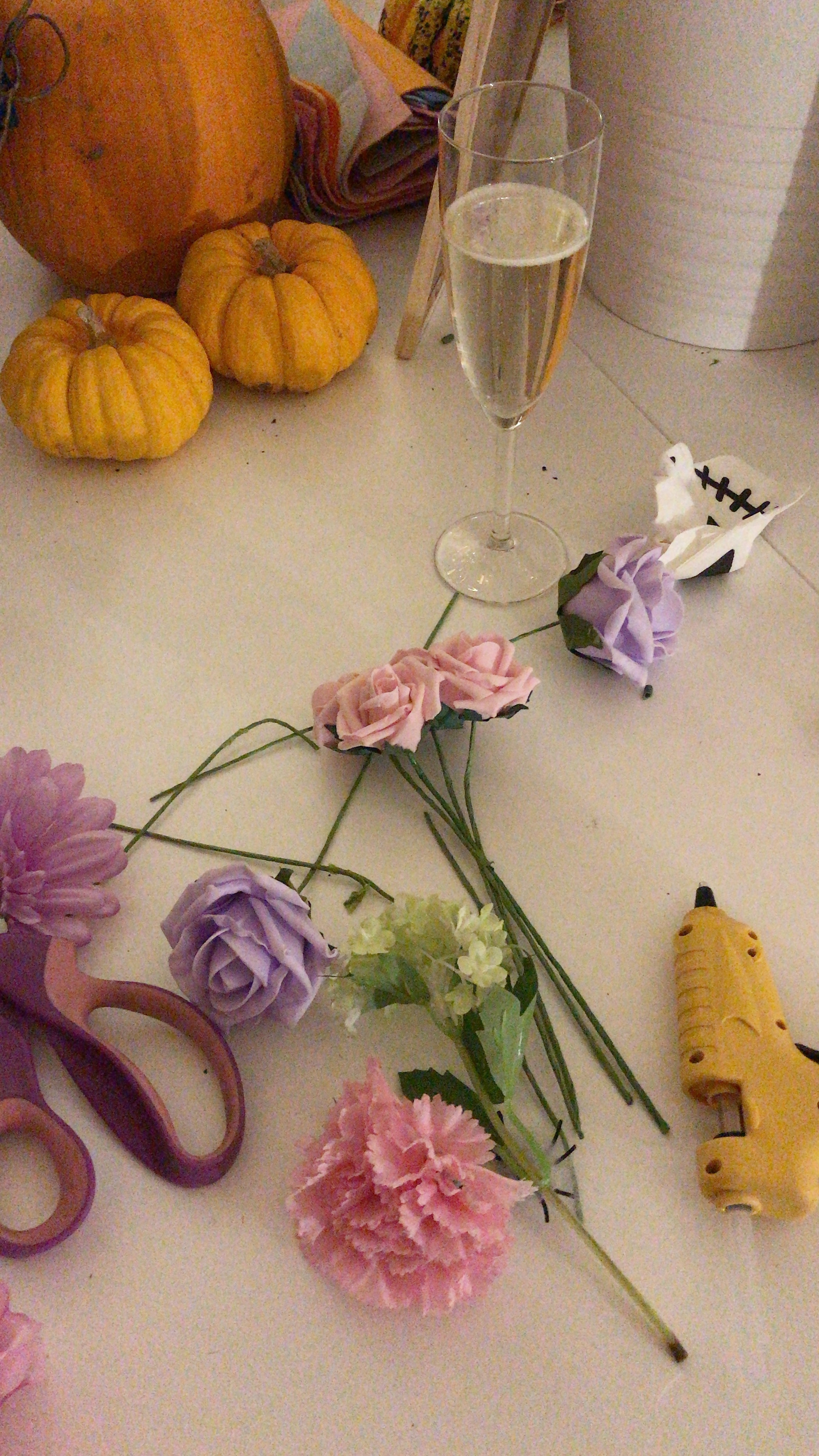 """Getting all my materials together and planning my flower crown """"concept""""…Yes, I'm that gal!"""