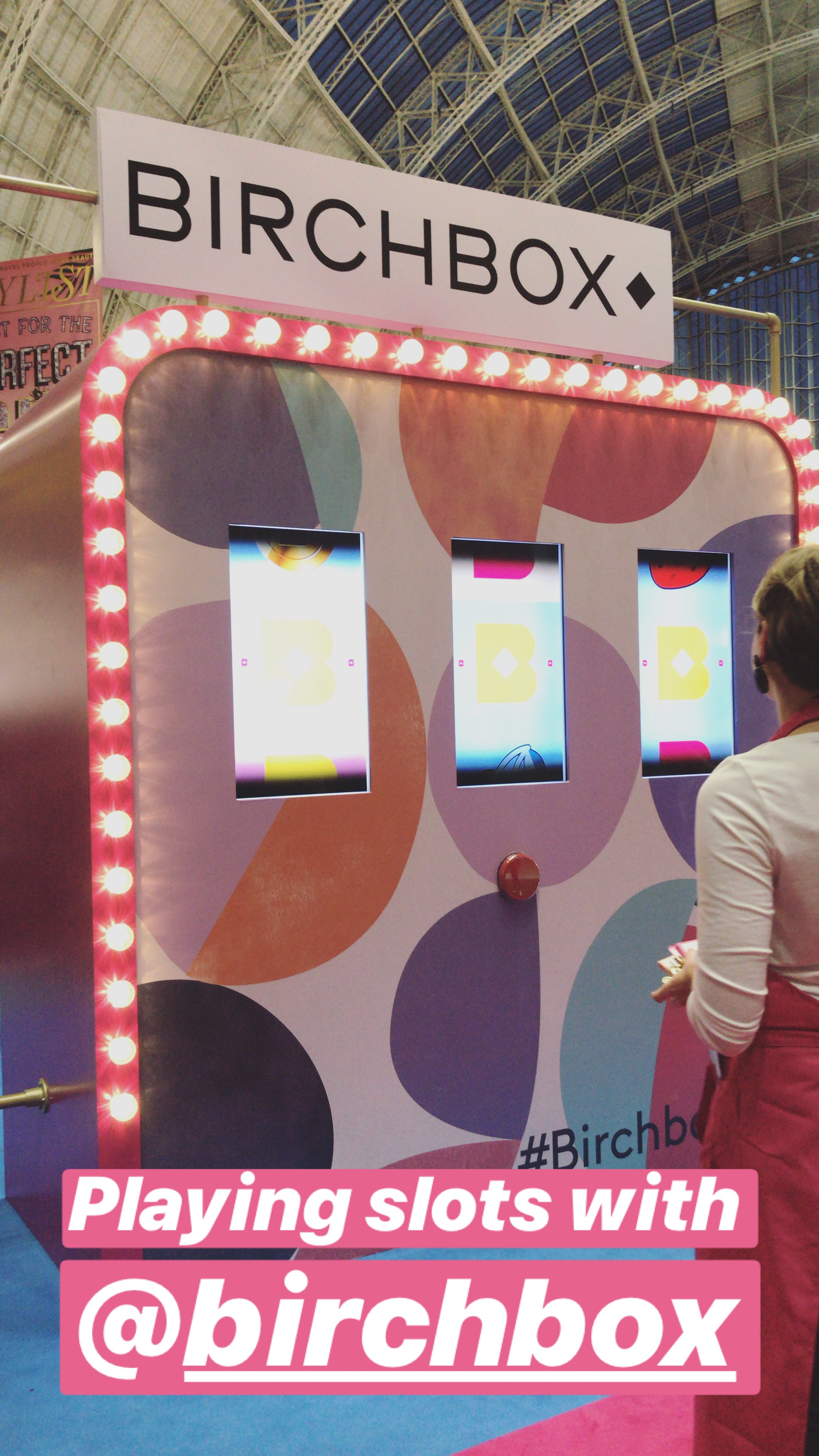 Birchbox were on site with their interactive slots game