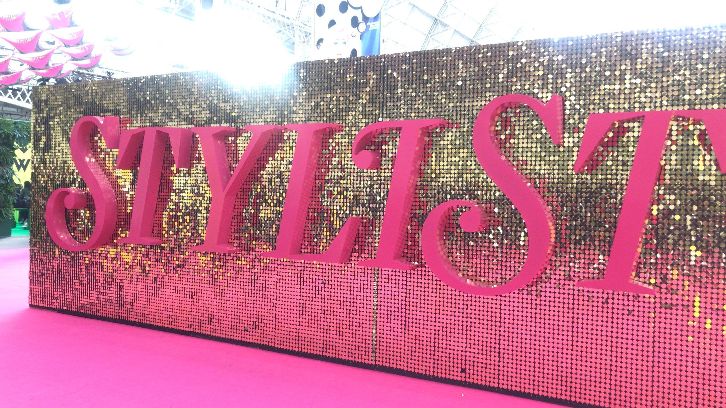 Pure glitz at the entrance to Stylist Live. Photo opportunities everywhere!