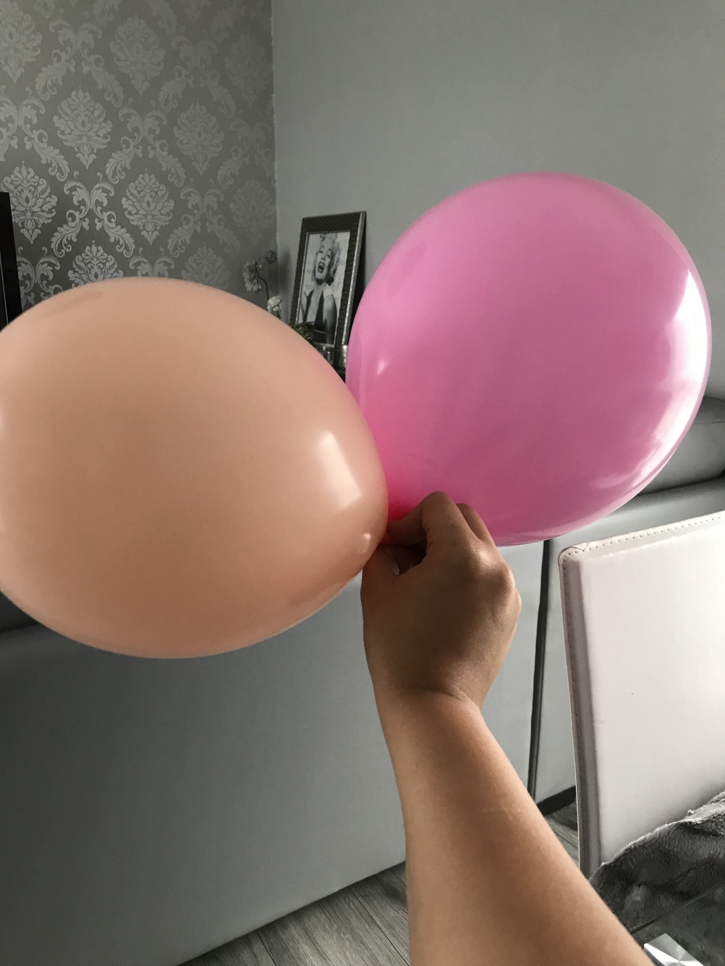 Begin by blowing up your first  balloon...