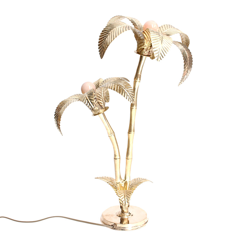 * SPLURGE * -PALM TREE LAMP - BY A LABringing a little tropical glamour with its palm tree design and gold finish is this stunning lamp by A La. £340