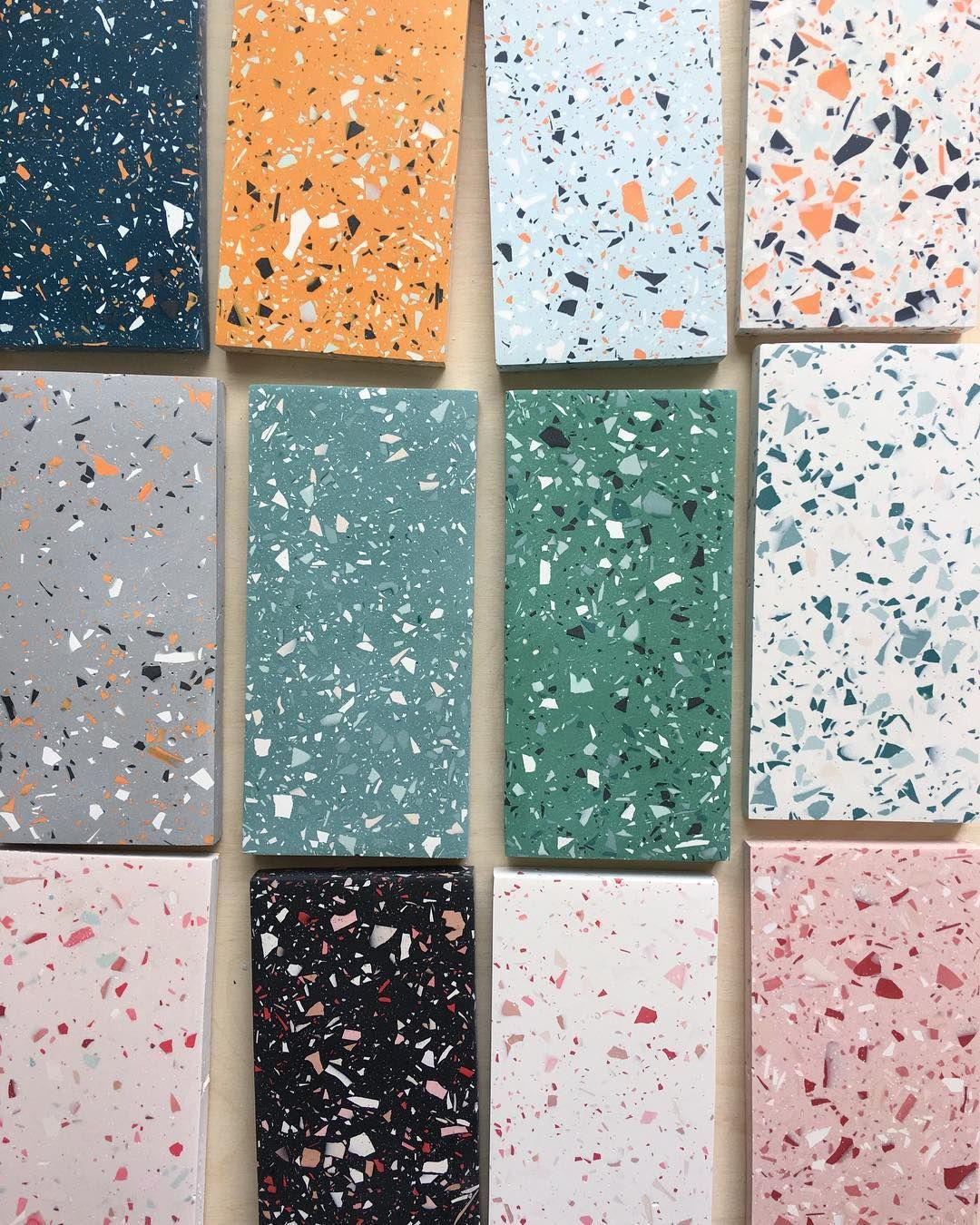 Various samples of the terrazzo style…just cause!