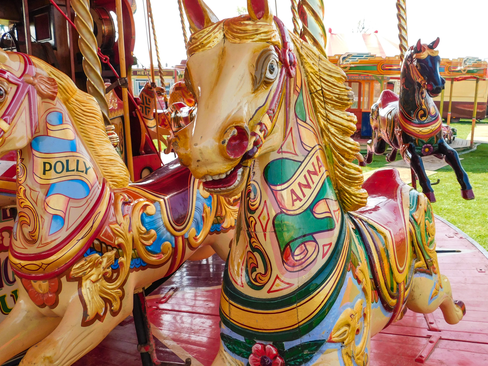 The Steam Gallopers are an English Victorian funfair classic.
