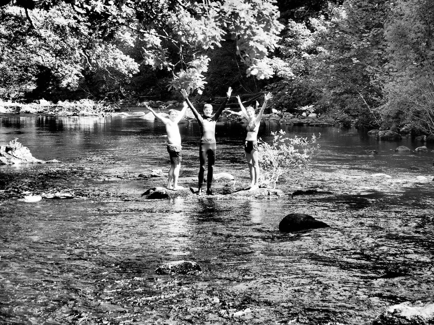 The joy of the river swimmers  Steve, Caspar and Ali