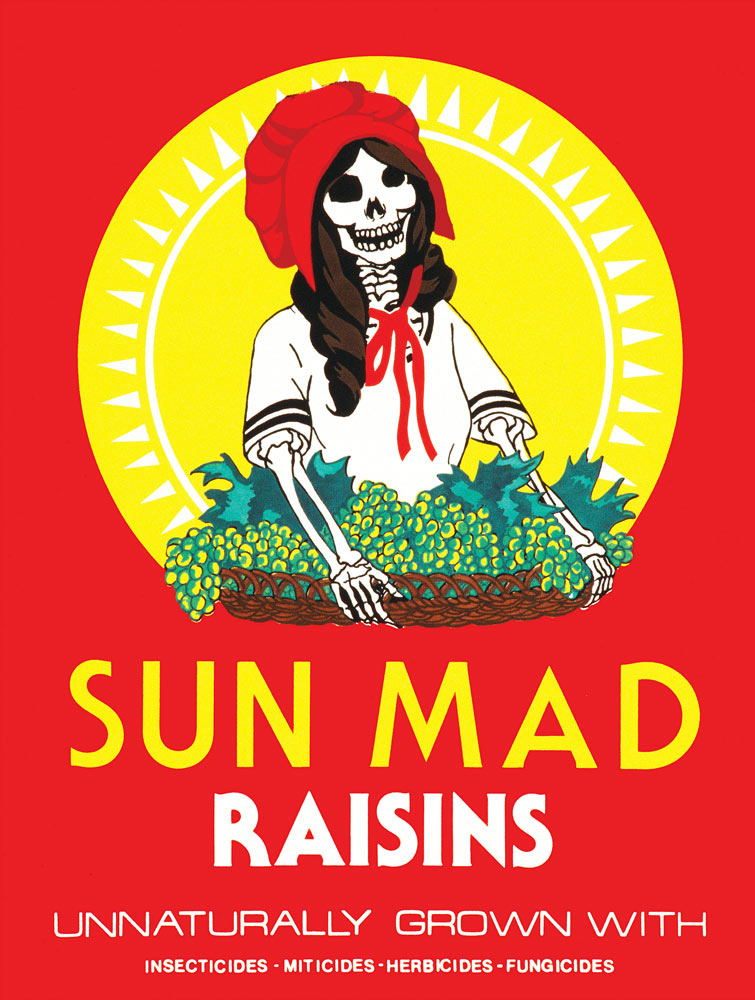 Sun Mad , 1982, silkscreen by Ester Hernandez (b.1944), 26 x 20 in. ©Ester Hernandez