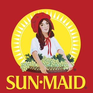 The Sun-Maid Raisins logo as it has appeared since 1970.