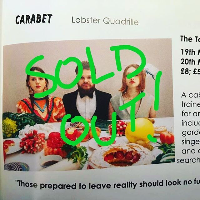 ***Tonight CARABET SOLD OUT!!*** Thank you everyone who came! Next weekend we will be at the Brighton Fringe 6pm Sat 26th & 27th May @brightonspiegeltent for more insanity!  Xxx #brightonfringe #carabet #waf2018 #tent #cabaret