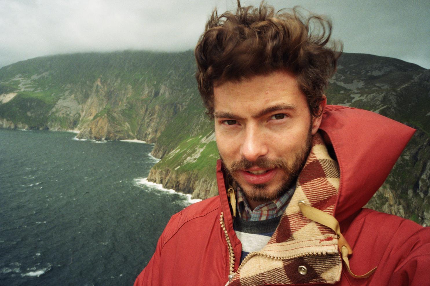 Windblow on the Irish coast - he fits right in.