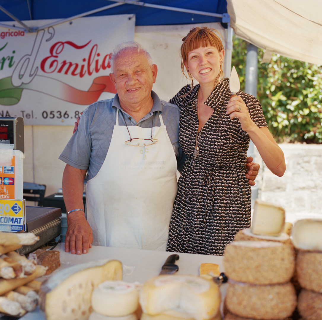It was the Prinano street market. I made friends with the cheese man and we made a trade a picture for a painters hat with the cheese logo on it. We mailed him a print but never got a hat but heck what a memory.