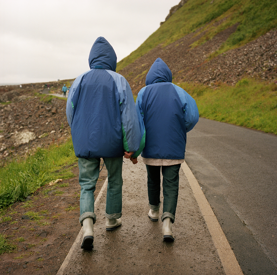 "This couple was walking in front of us on our way to the Giants Causeway. We joked we would never be ""that couple"". Years later we find that we love the same style of gear and more often than not end up twining."
