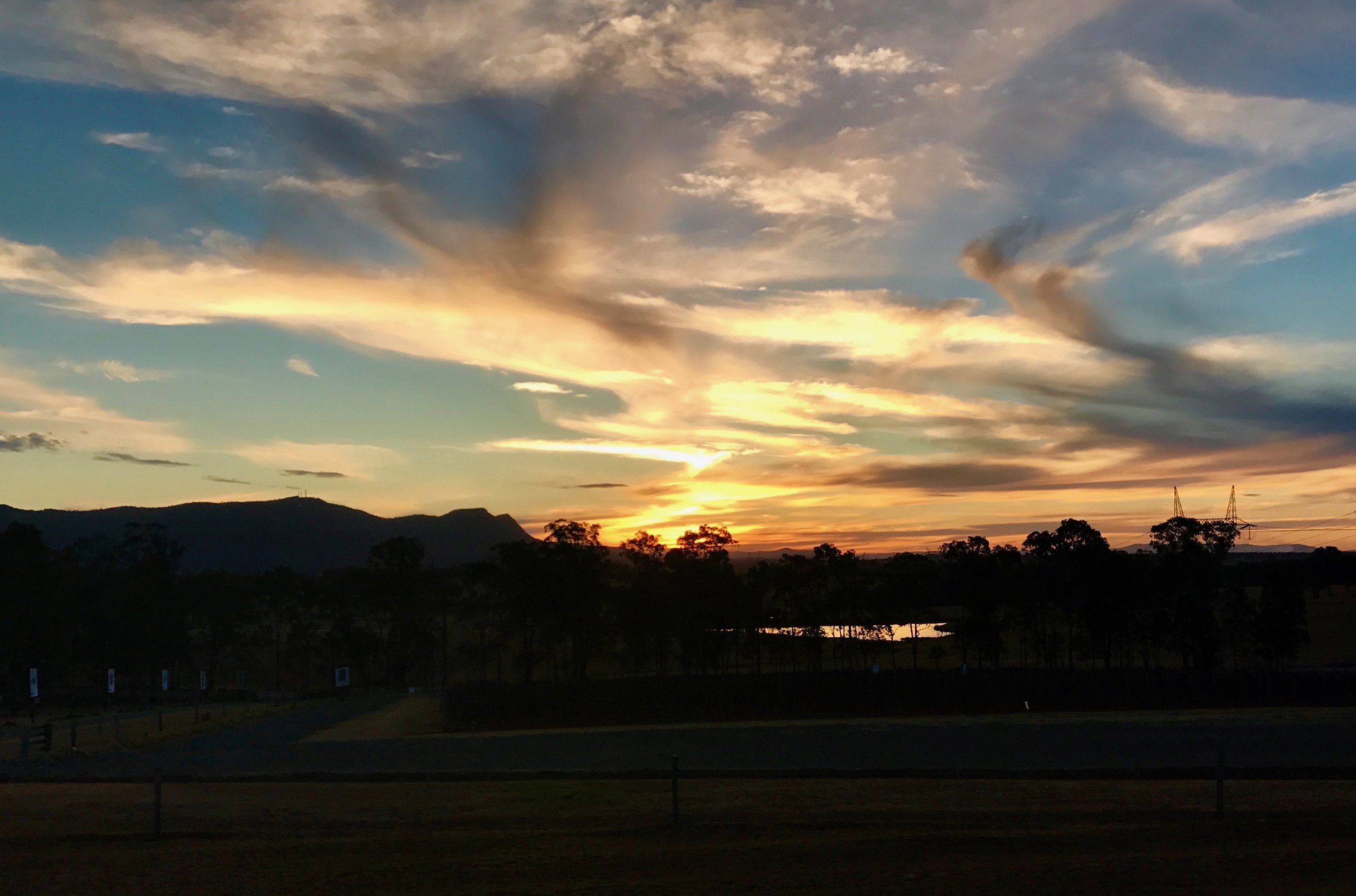 Sunset in the Hunter Valley