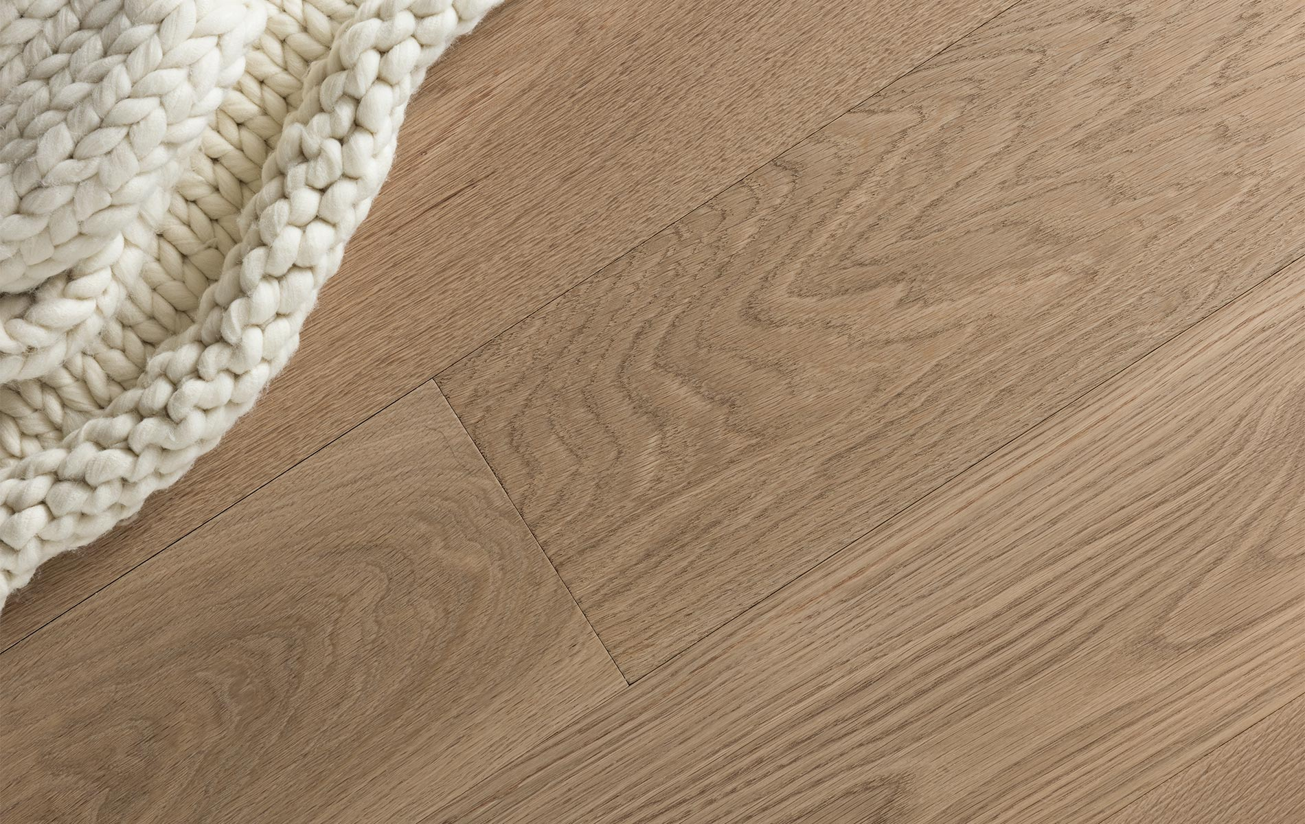 Wide plank white oak flooring. Image Source:  Craft Floor