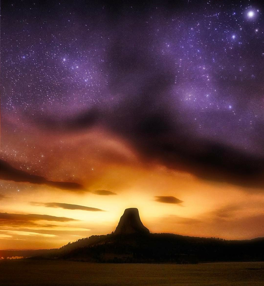 Clouds Clear Above Devil's Tower