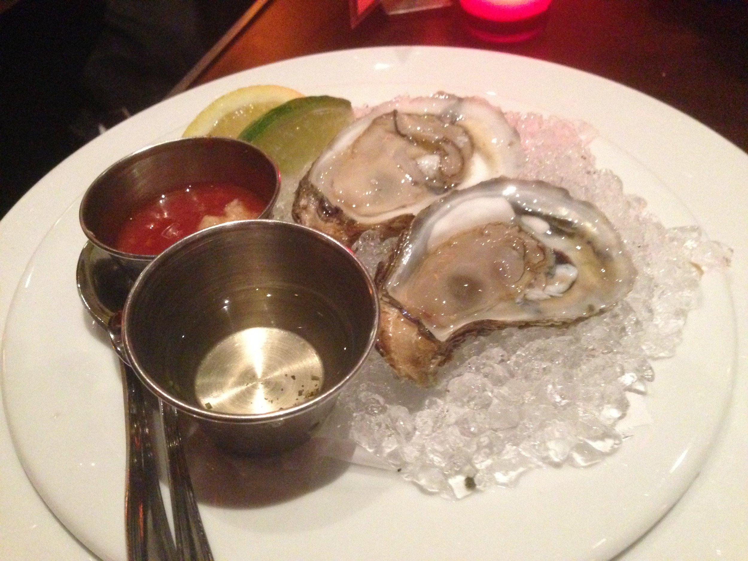 East or West Coast Oysters - you can choose from a list of different kinds