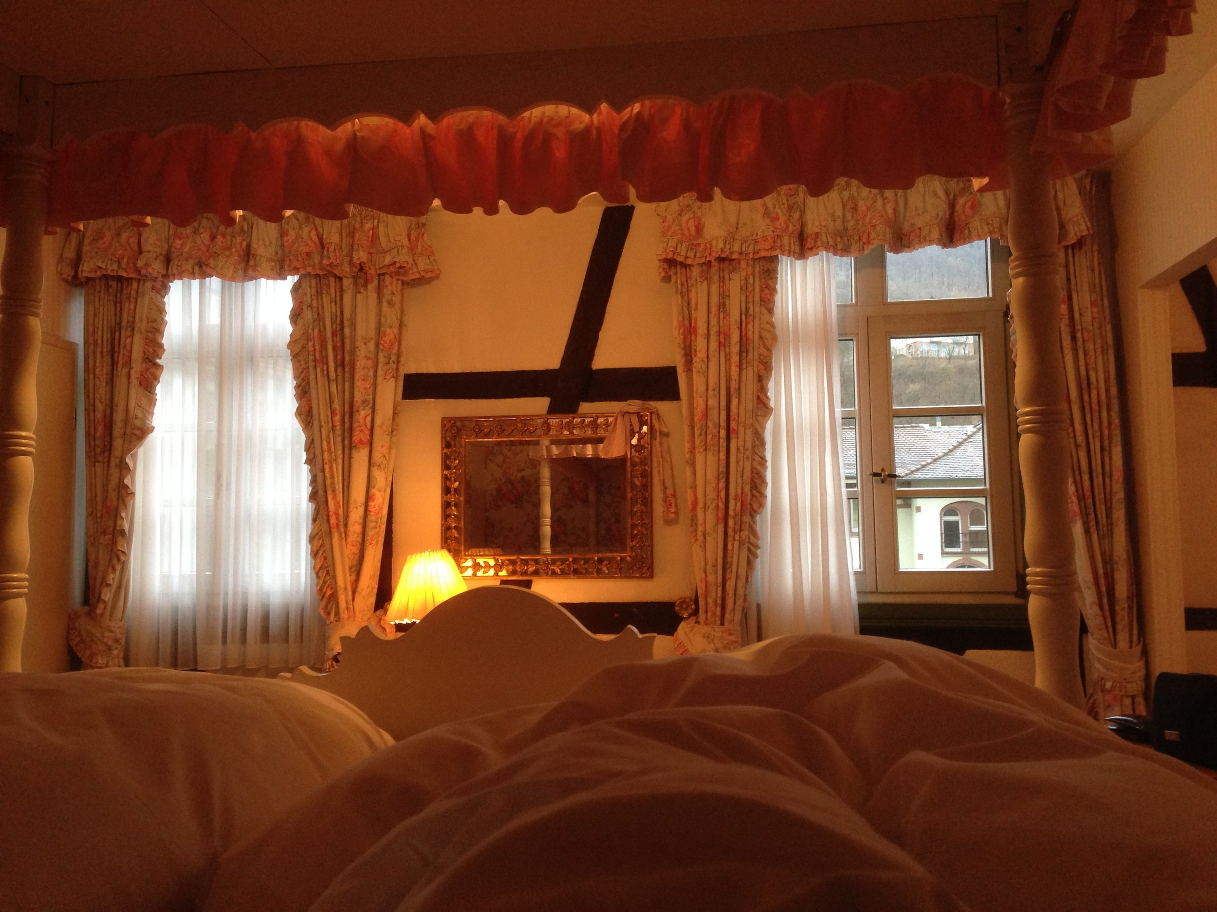View from the princess-like bed