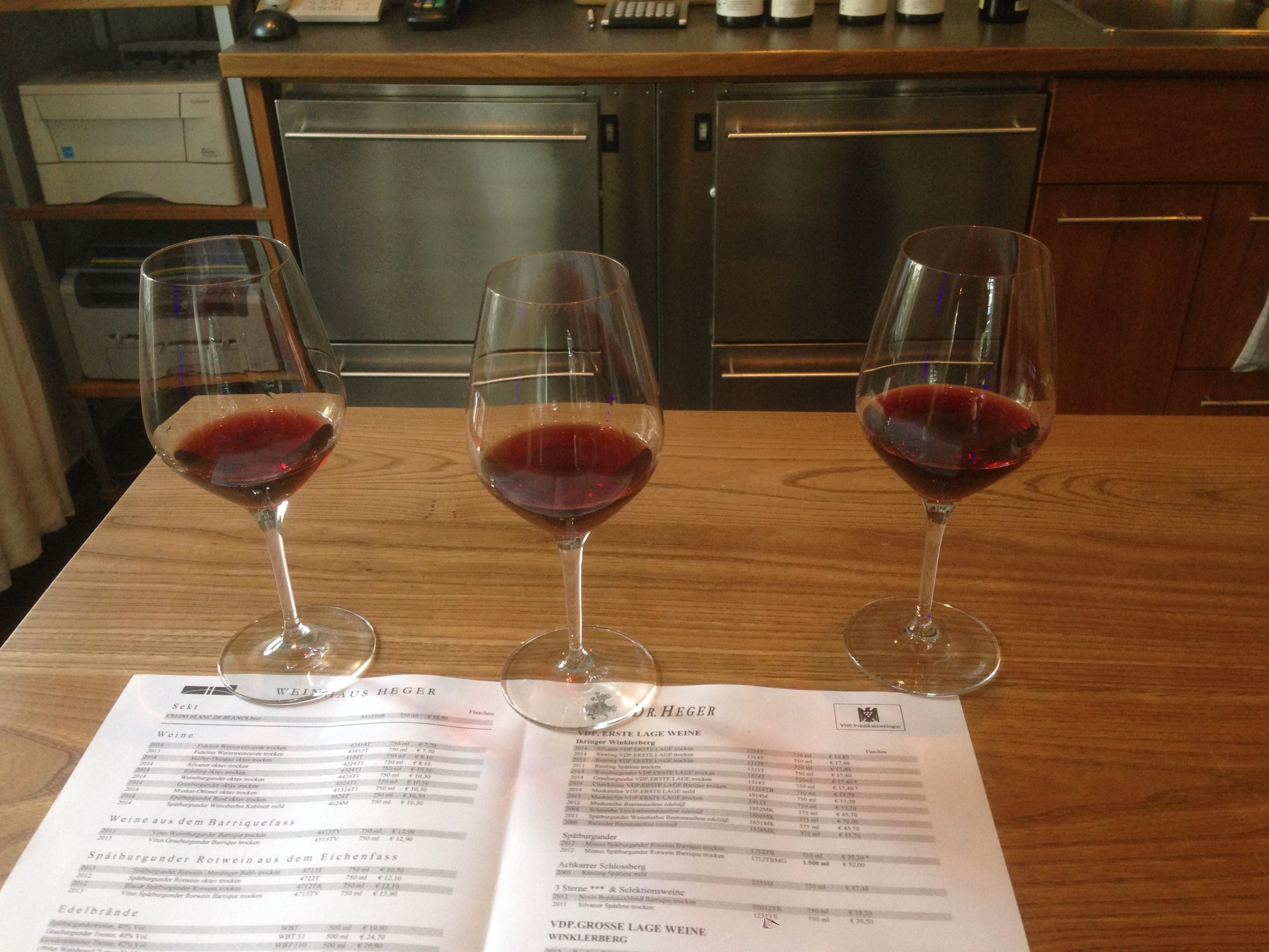 Three of the great reds from Dr. Heger