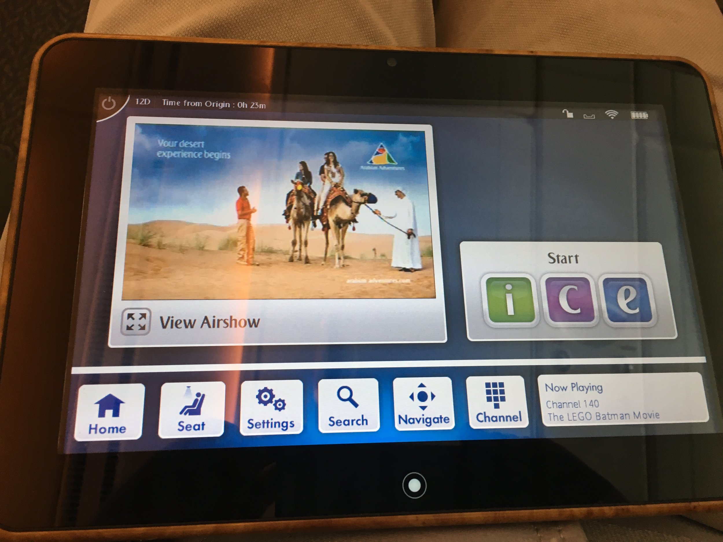 The tablet was able to control the whole system and also to display the air show independently from the main screen