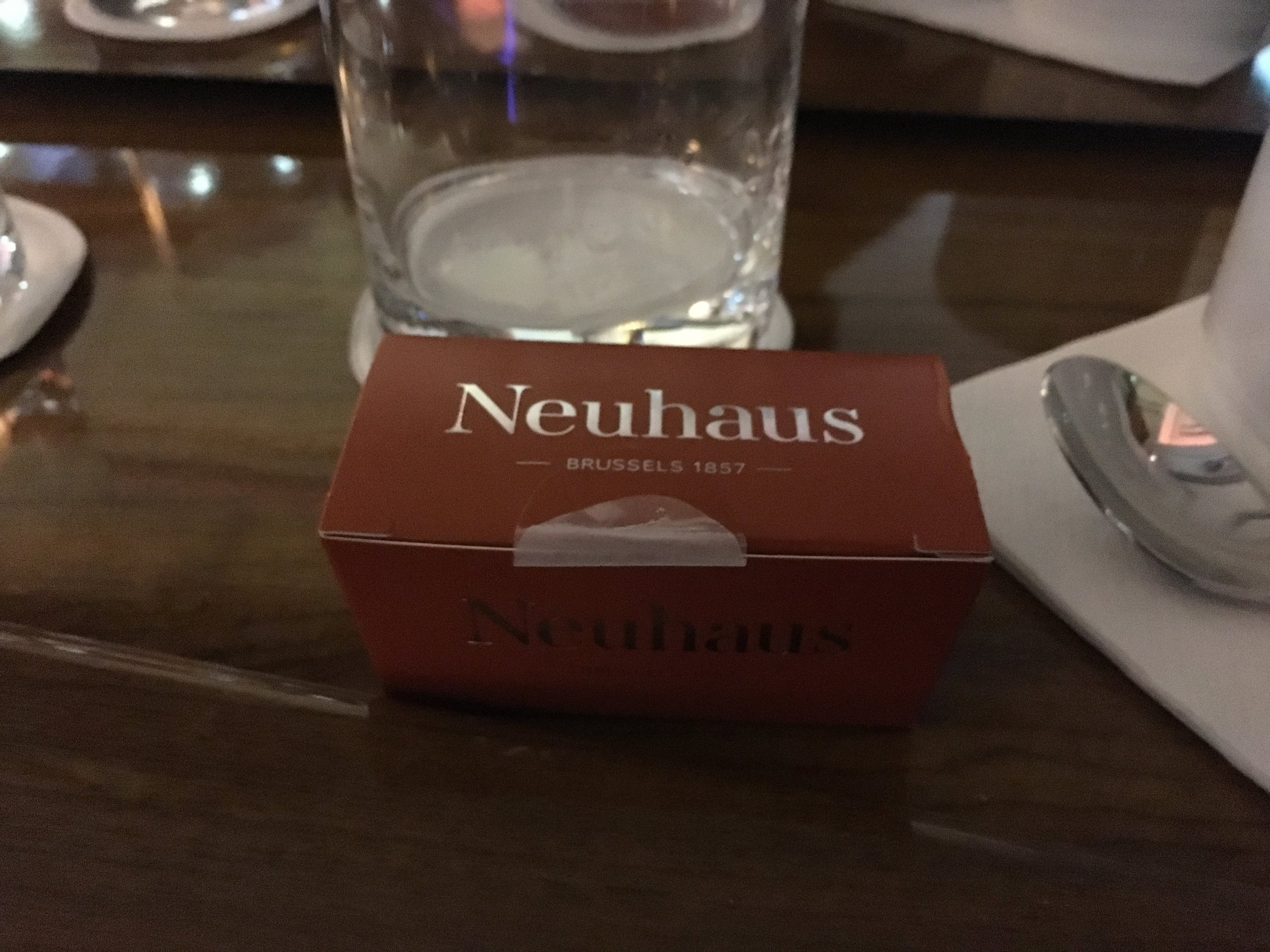 Neuhaus chocolate from Brussels