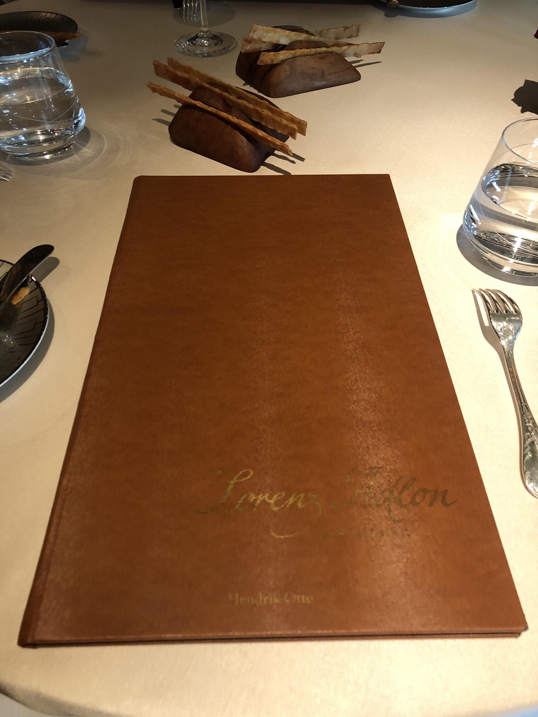 First, the wine menu