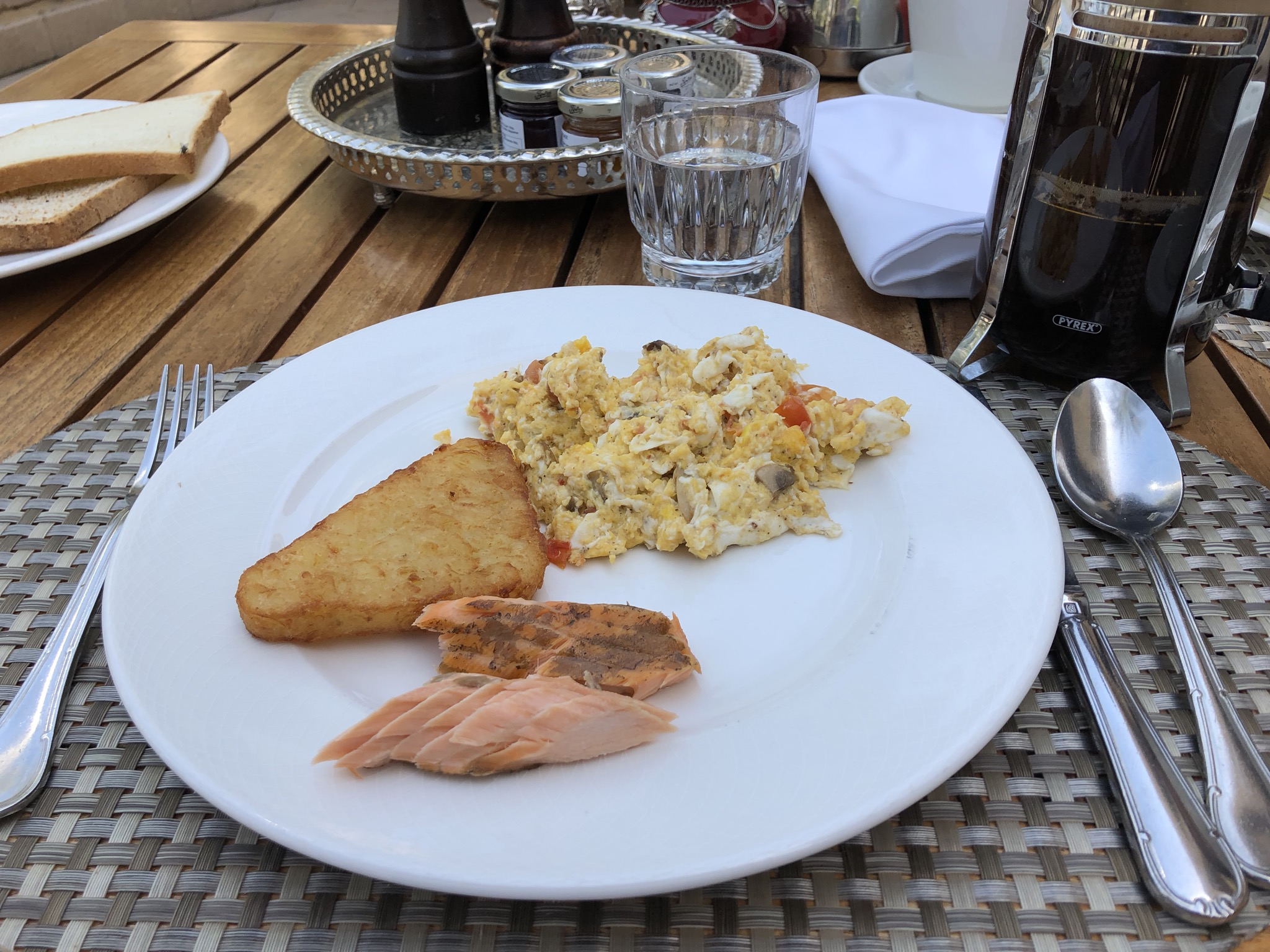 That salmon was my favorite breakfast item on offer - delicious
