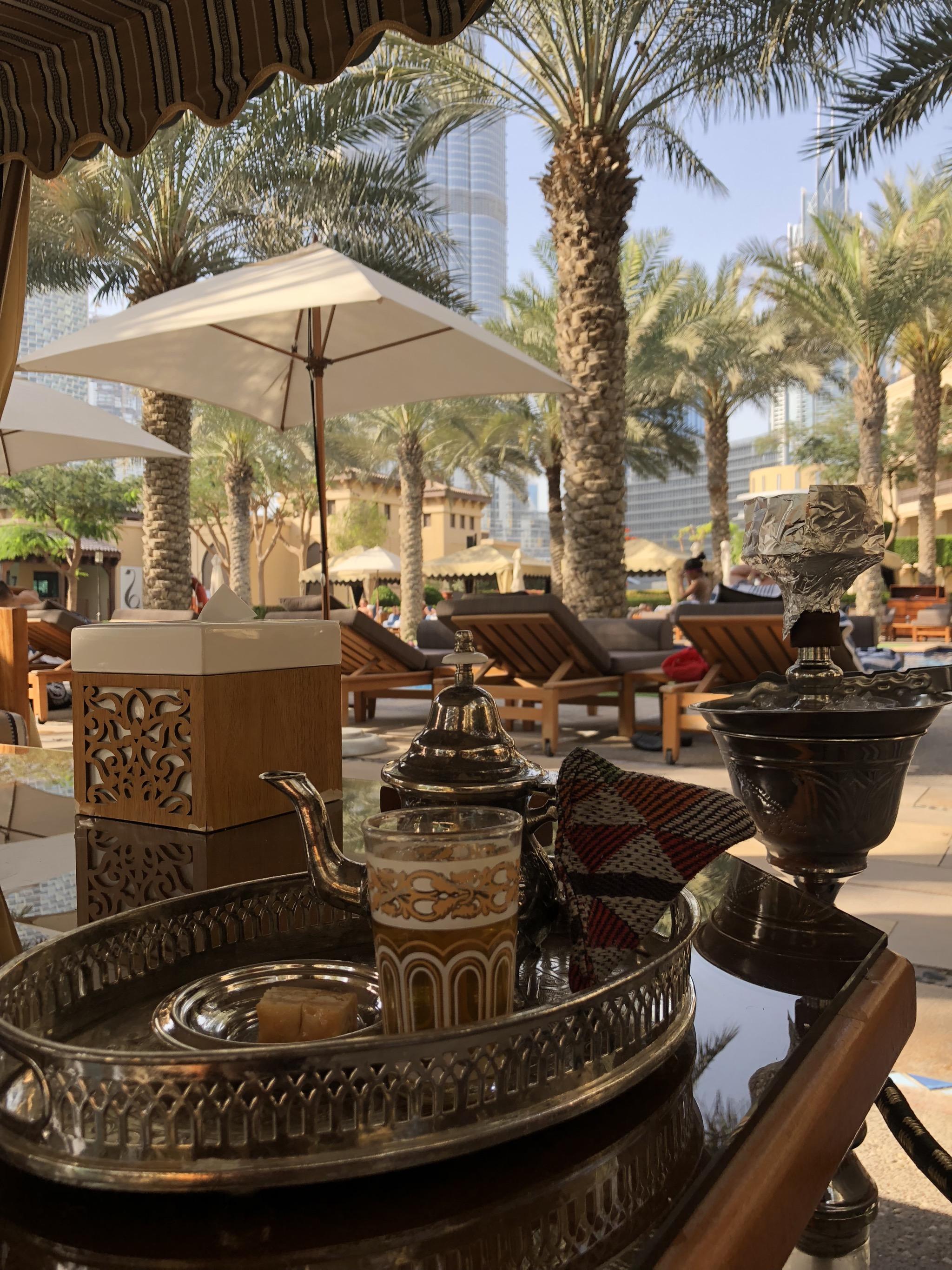 Shisha and Moroccan mint tea - a fine combination