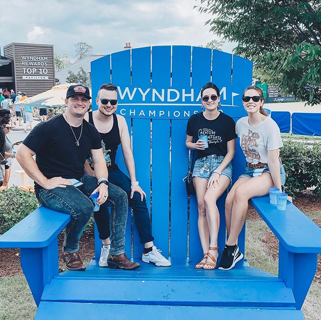 Thanks for singing along with us @pgatour @wyndhamchamp at the @margaritaville tent! #wyndhamchampionship #margaritavilletent #pgatour #rebelunionmusic #rebelunionofficial