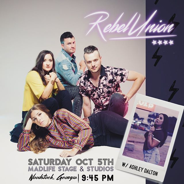⚡️G E O R G I A : we are coming your way to @madlifestage and bringing our good friend @ashleydaltonmusic with us. This may be our last show in GA for a while, so you don't want to miss it! Ticket link in bio ⚡️... . . . #thebrandnewtour #rebelunionofficial #ashleydaltonmusic #woodstockga #woodstockgamusic #galivemusic #georgiamusic