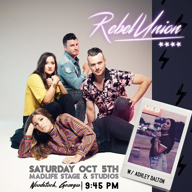 Only a couple days away from bringing the show back to the #atlanta area! Y'all come hang with us this Saturday @madlifestage in #woodstockga ! Definitely a show you will not want to miss!. . [Ticket Link In BiO] . #madlifestageandstudio #woodstock #atlantamusicscene #rebelunion