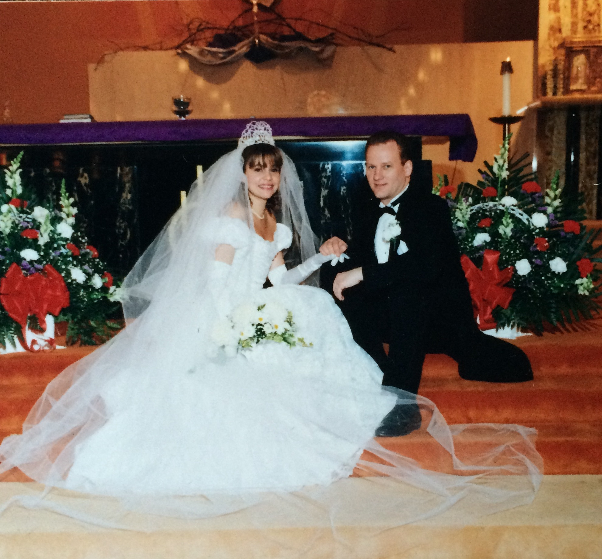 In my wedding gown I designed 3/12/1994