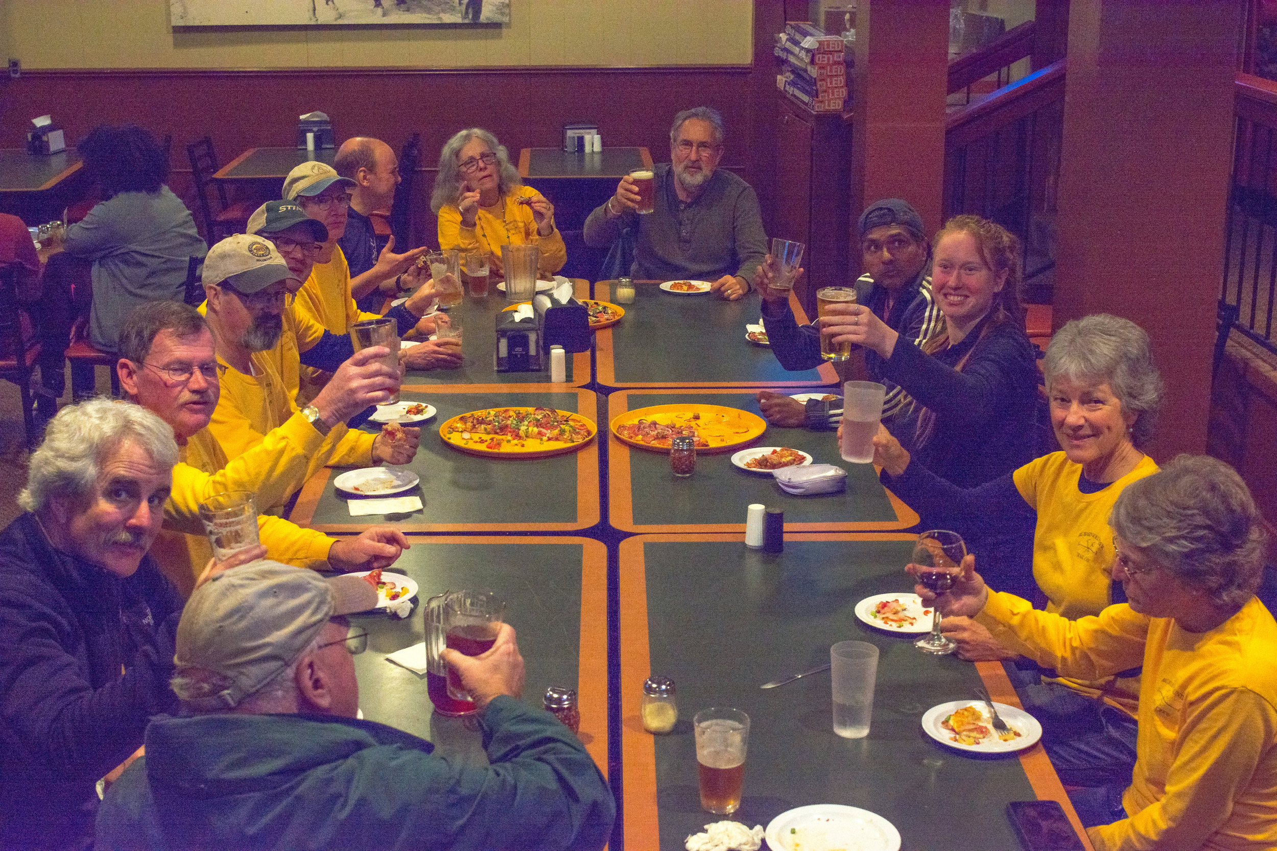 Cheers to the close of BBVTC 49th year working on the Big Basin SP trails