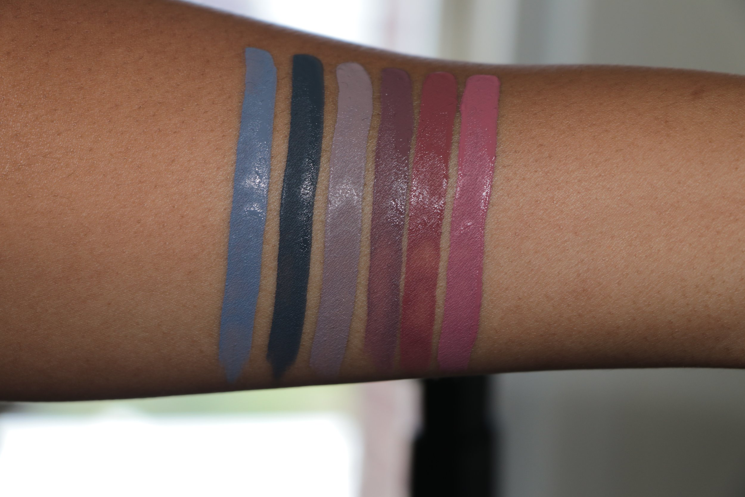 Swatch from left to right- Dagger, Woolf, Haze II, Haze, Lolita, Lovecraft