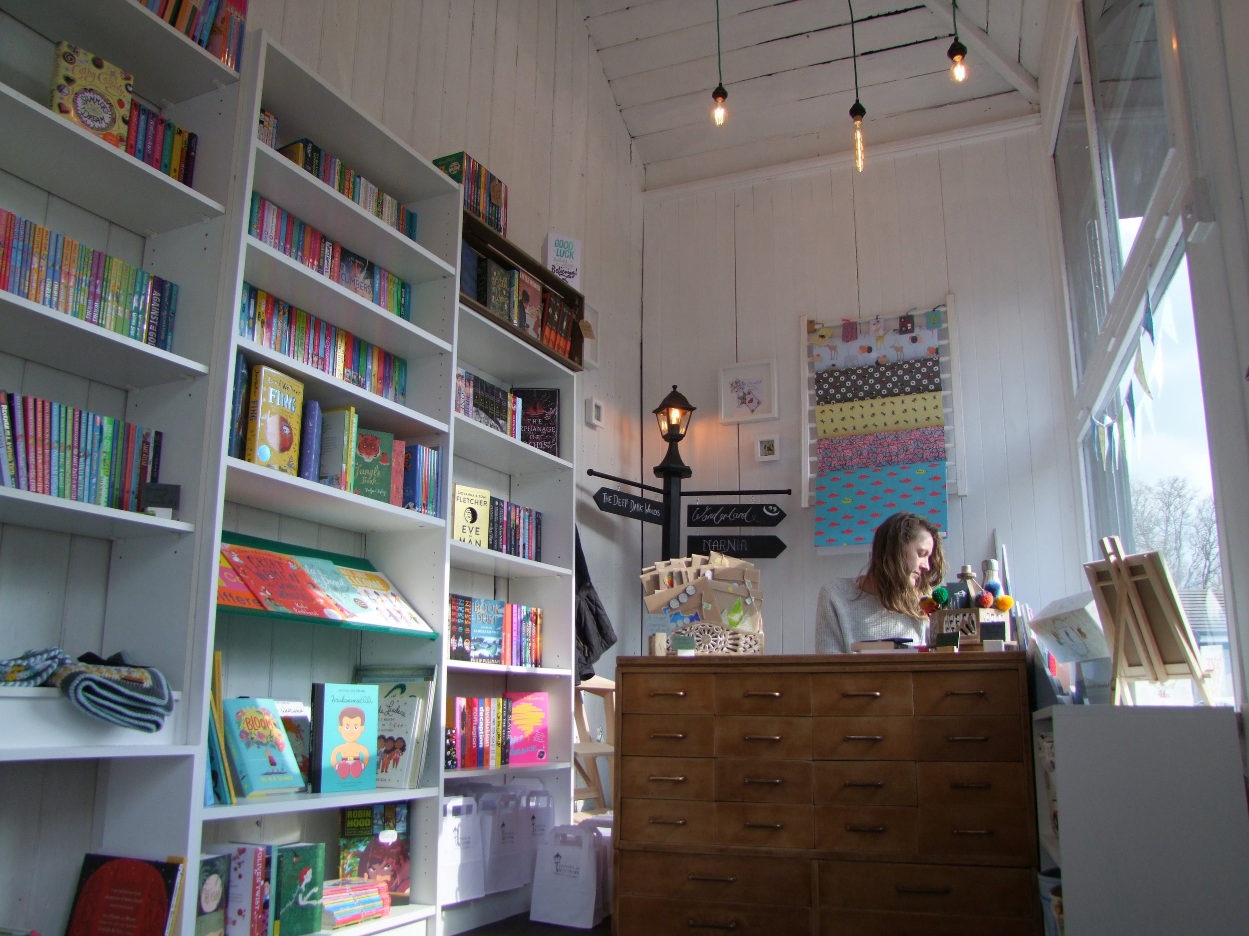 Through the Wardrobe Children's Bookshop interior