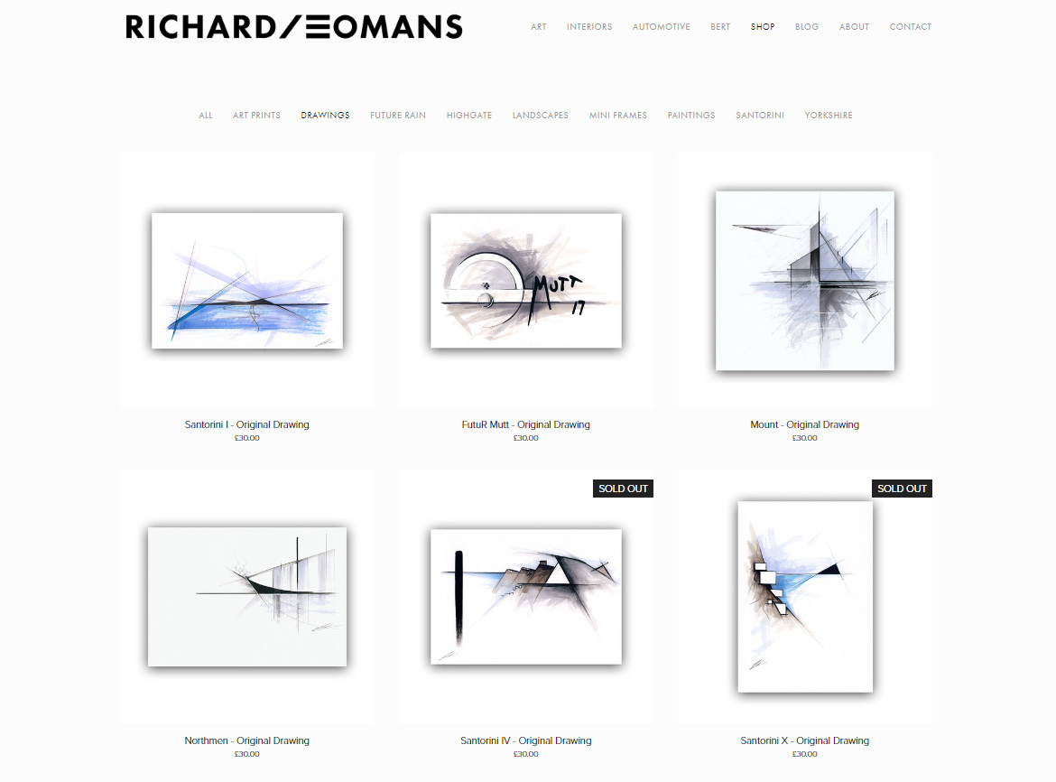 2019 richard yeomans artist website shop screenshot - abstract drawings.jpg