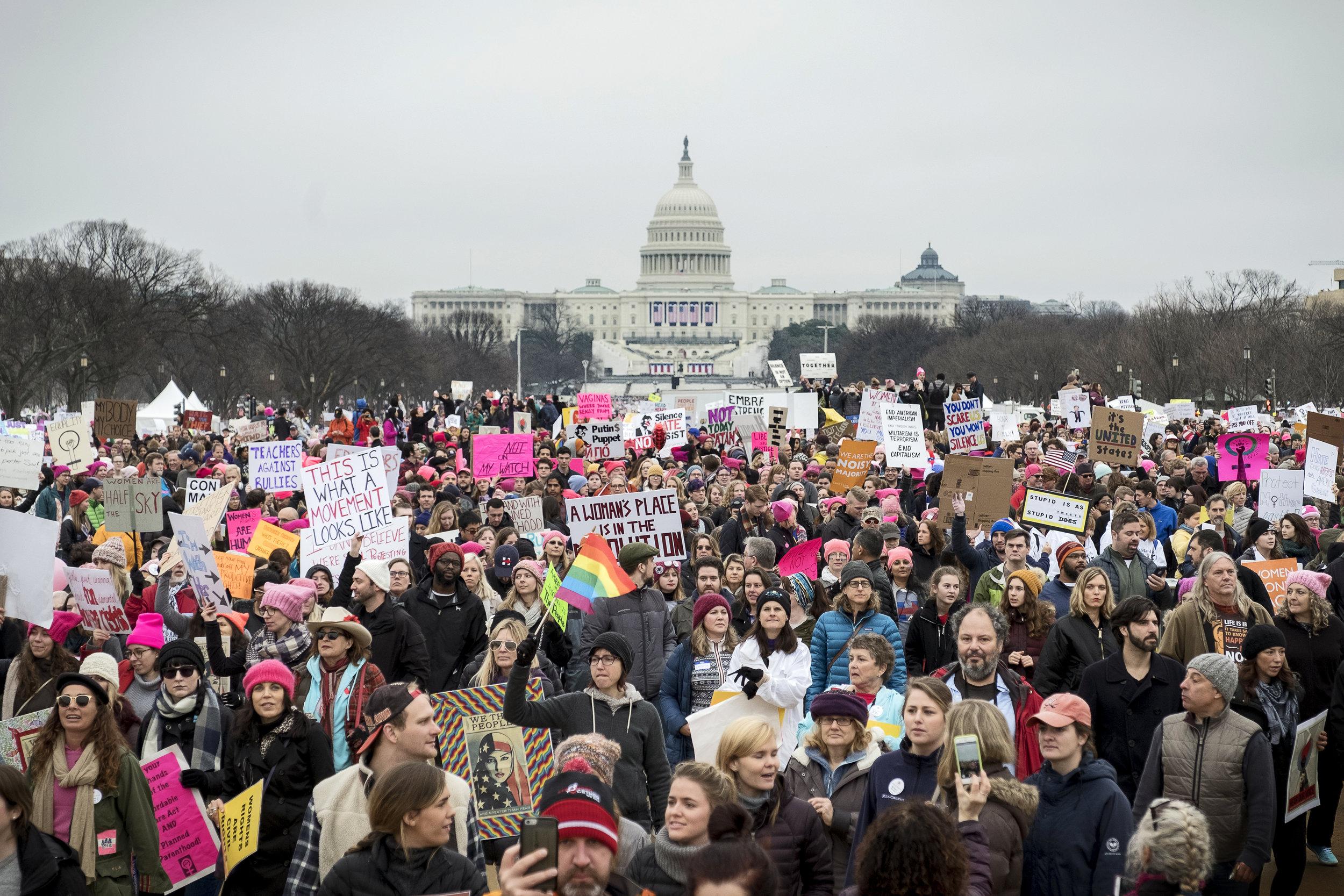 Women's March on Washington, Jan. 21, 2017.Photo Credit: Katie Orlinksy