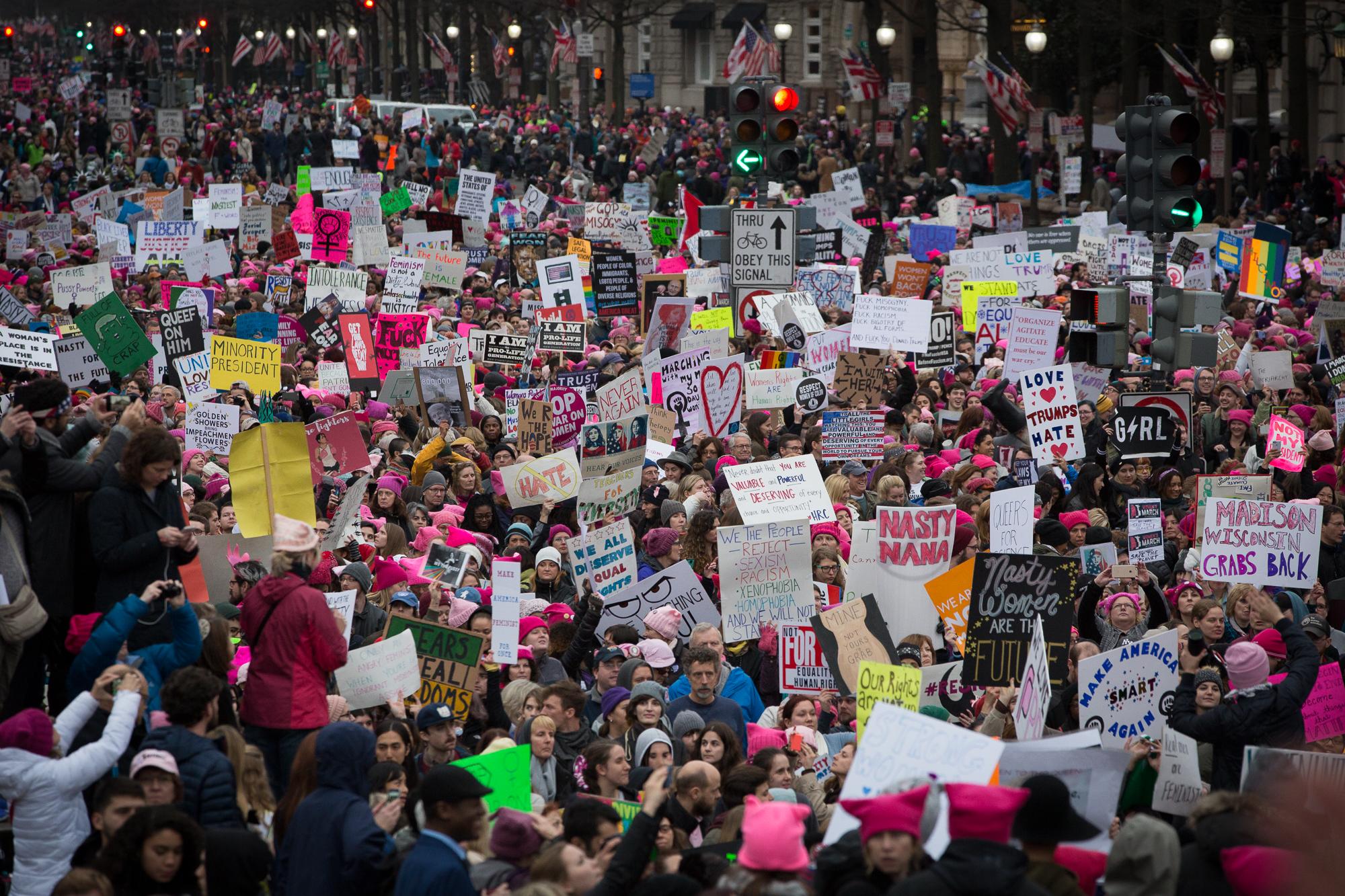 Women's March on Washington, Jan. 21, 2017.Photo Credit: Alex Arbuckle
