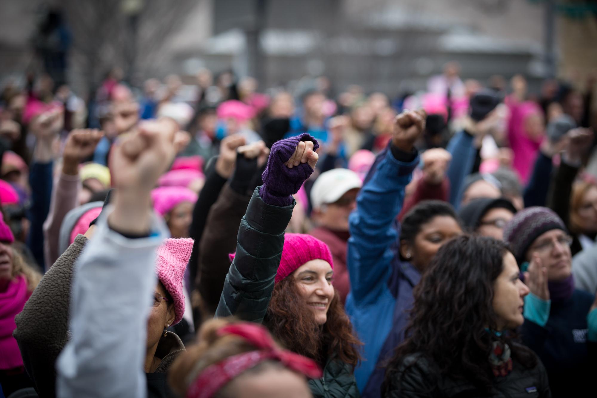 The Women's March on Washington, Jan. 21, 2017.Photo Credit: Alex Arbuckle