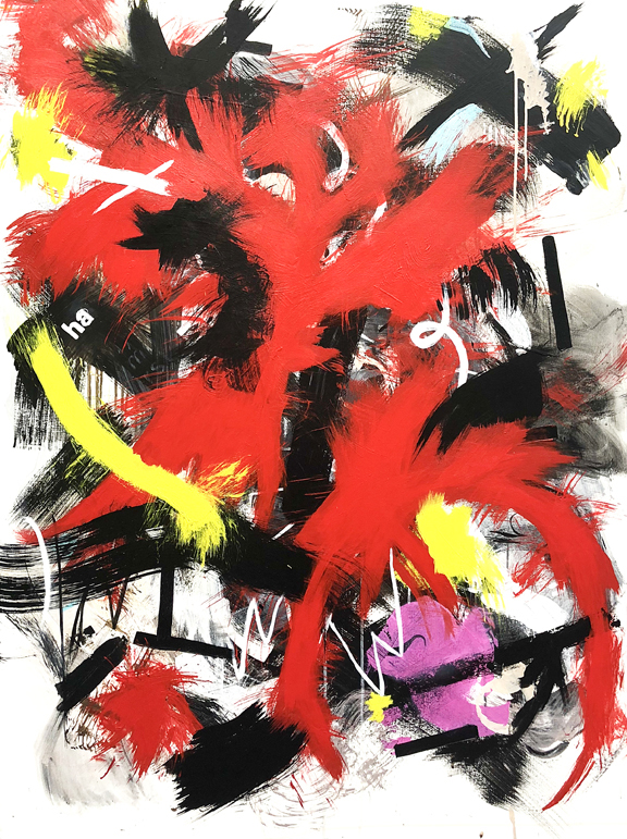 """Psycho Killer (Qu'est-ce Que C'est)"", 48 x 36 in."
