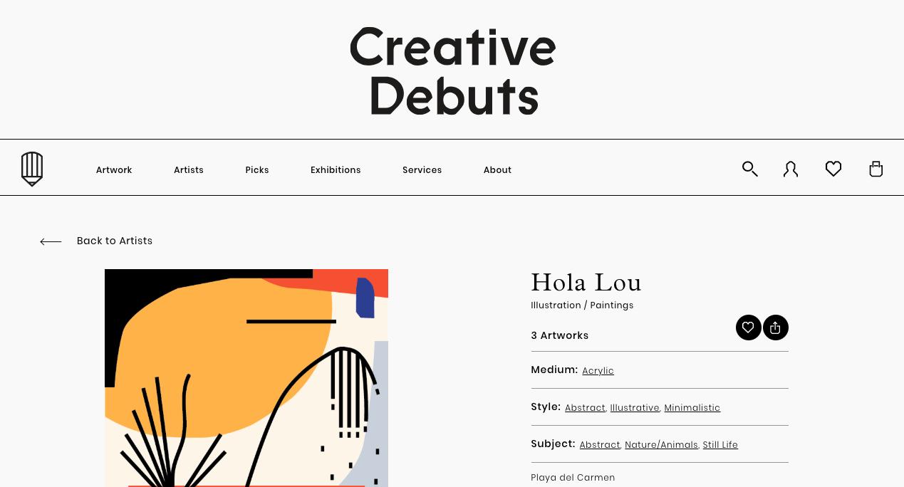 Creative Debuts UK