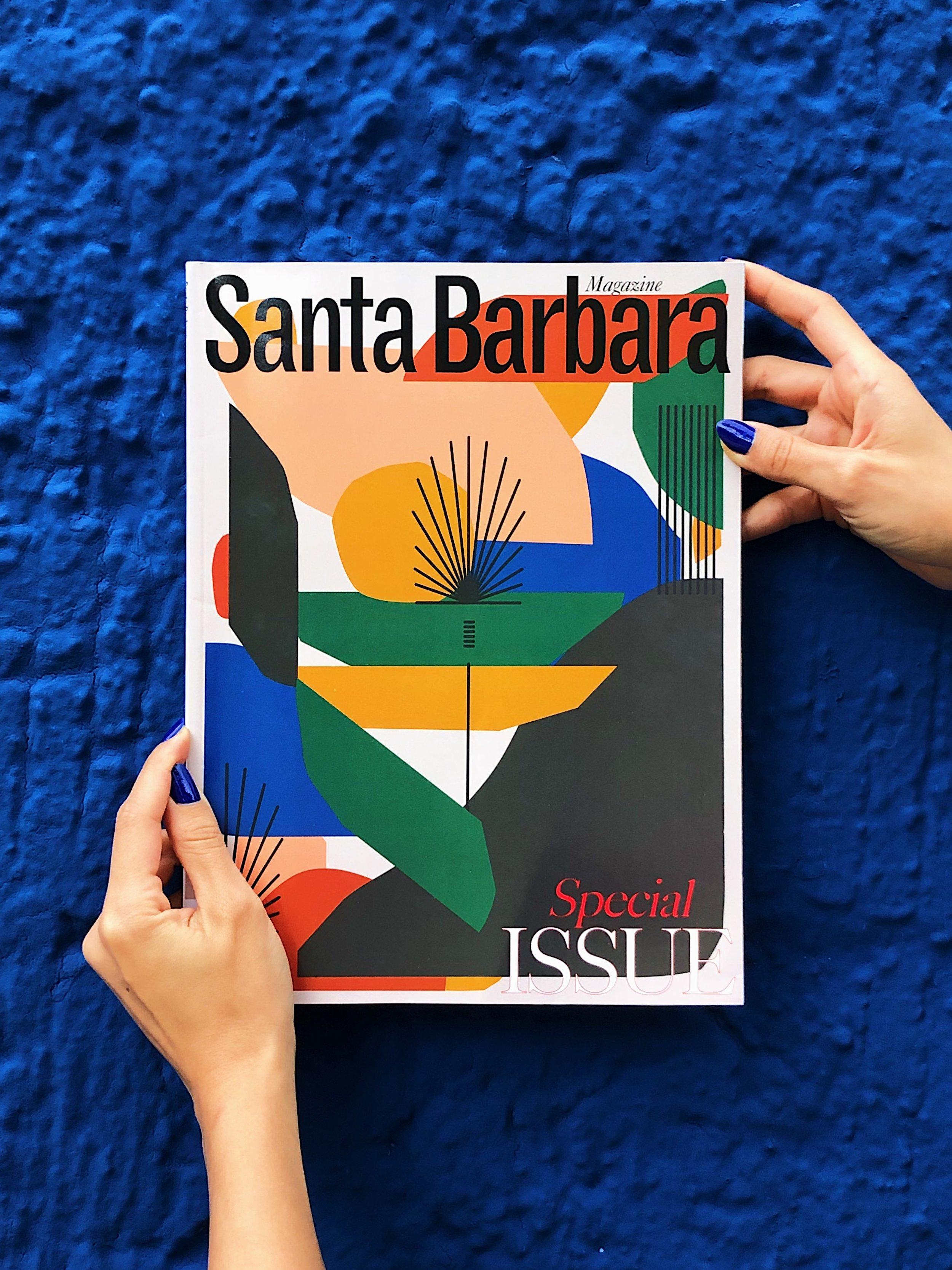 Santa Barbara Magazine Cover Art by Hola Lou®