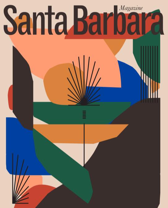 Santa Barbara Magazine Cover Art by Hola Lou® - Digital Illustration