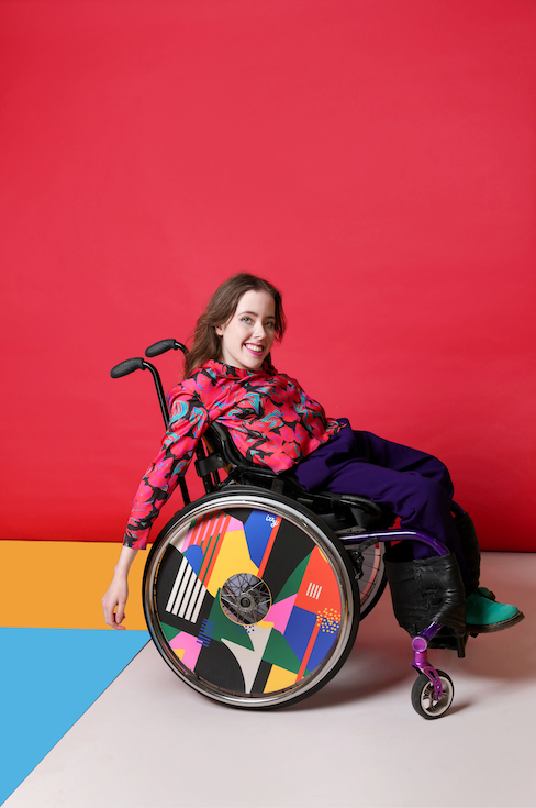 Izzy Wheels X Hola Lou® - Cover Abstract Art for wheelchairs