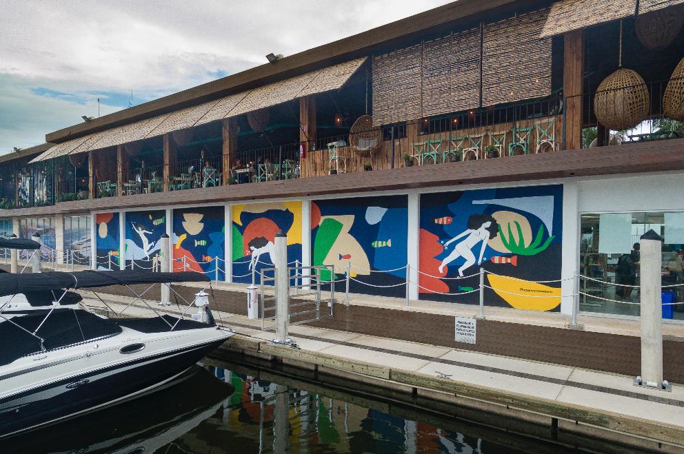 Marina Wall Mural collab Minerva Gm and Hola Lou®