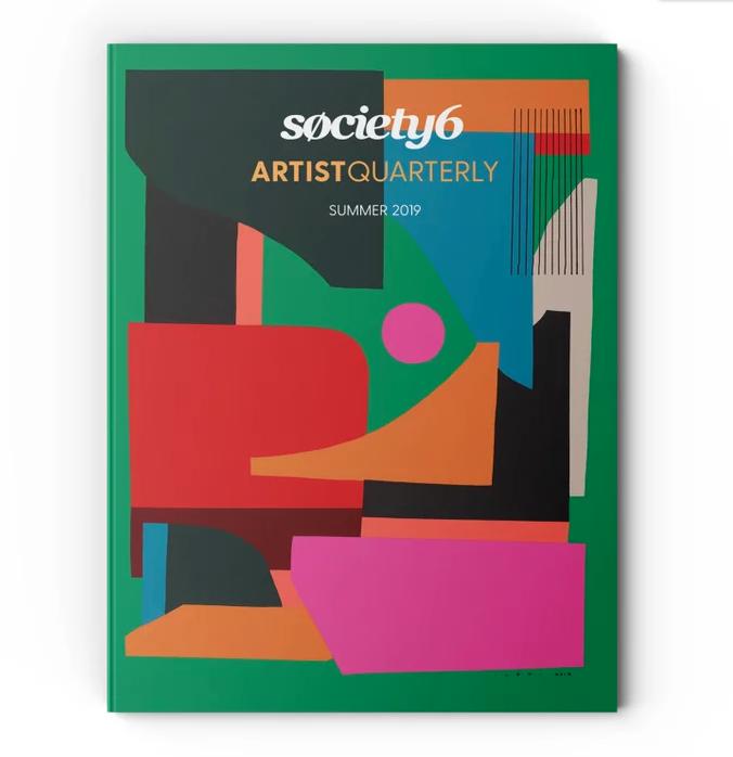 Society6 Summer Art Quarterly Magazine cover by Hola Lou®
