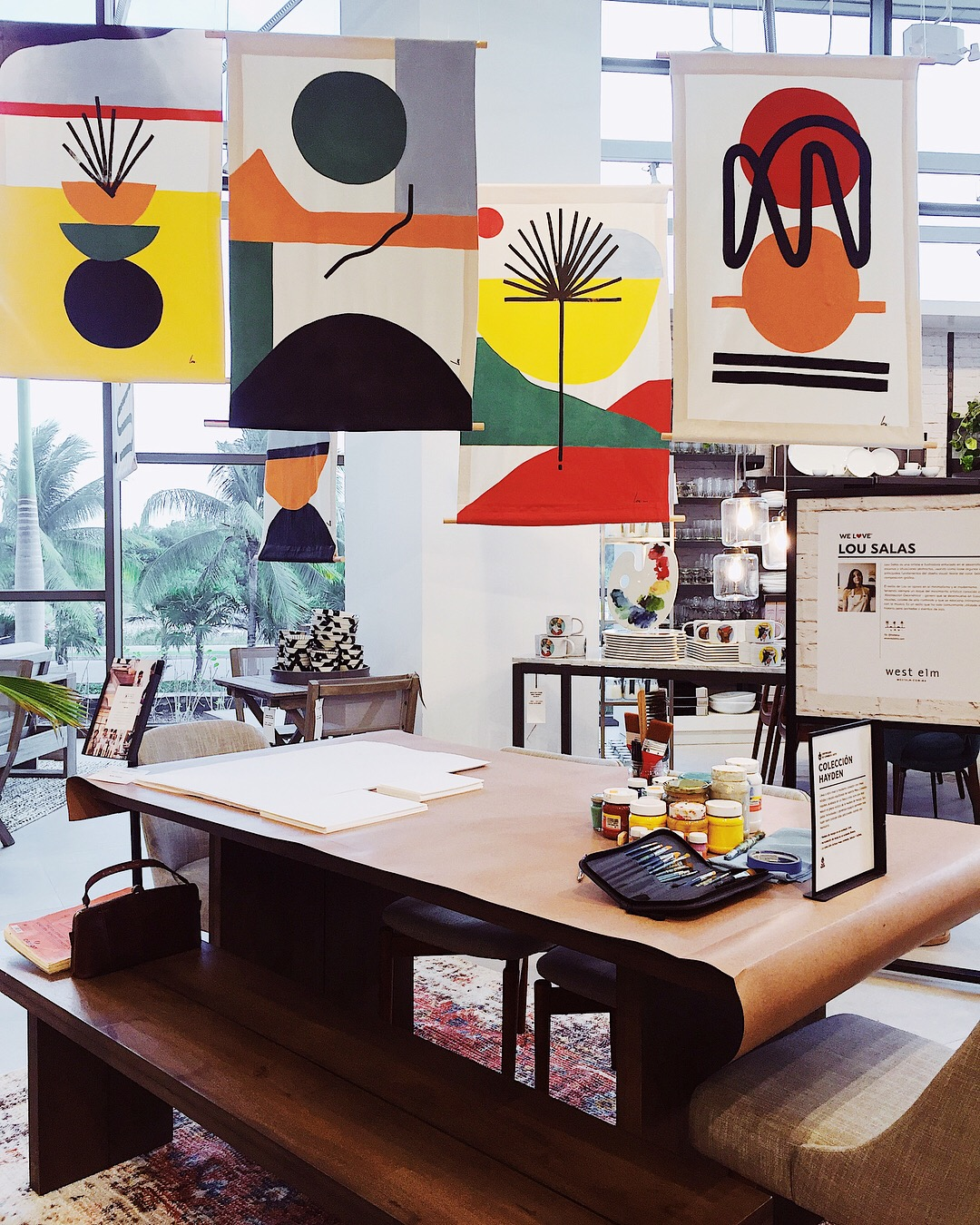 West Elm Puerto Cancun Mexico Art Installation by Hola Lou®